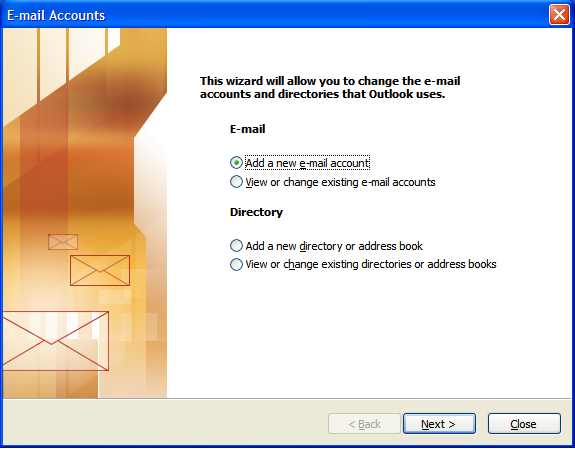 Step 2: Setting Up E-mail in Microsoft Outlook