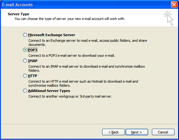 Step 3: Setting Up E-mail in Microsoft Outlook