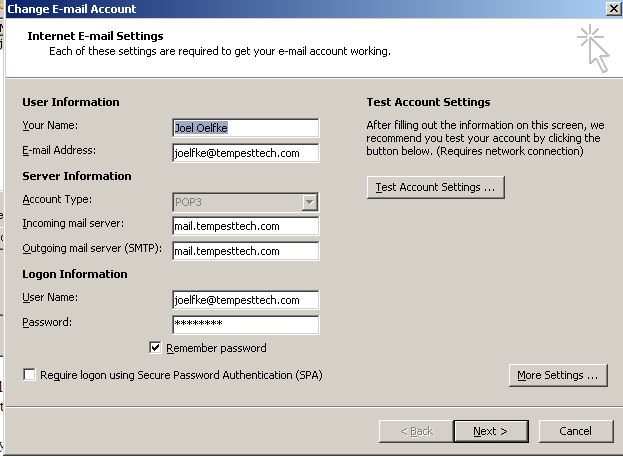Step 10: Setting Up E-mail in Microsoft Outlook