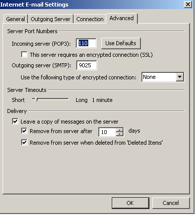 Step 6: Setting Up E-mail in Microsoft Outlook
