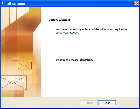 Step 11: Setting Up E-mail in Microsoft Outlook